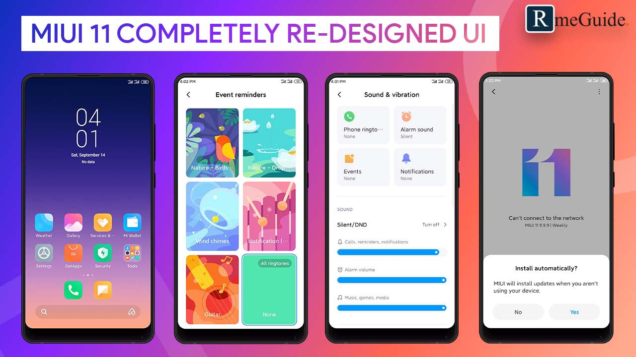 MIUI 11 Completely Re-designed UI