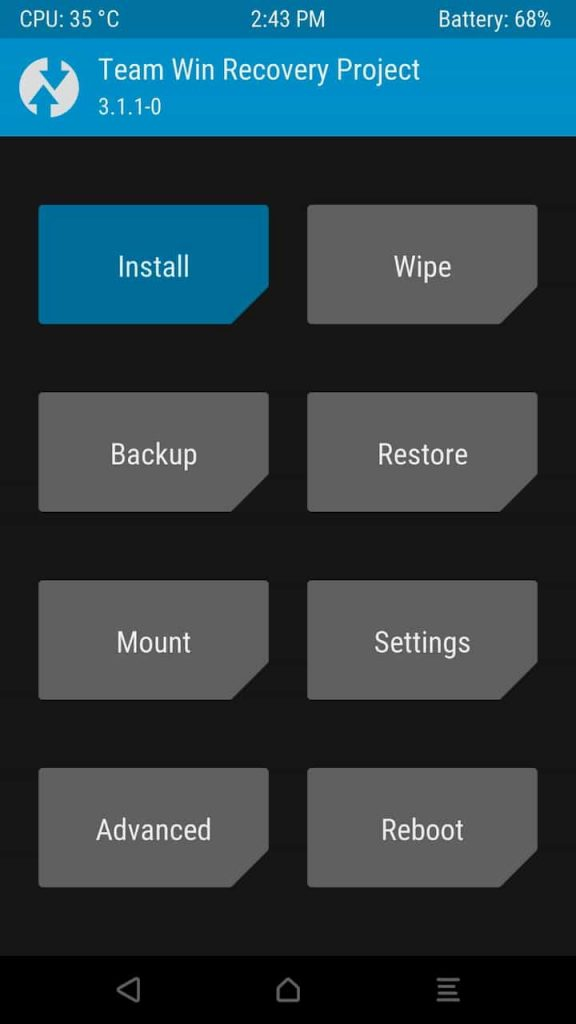 Install Magisk Using TWRP Recovery